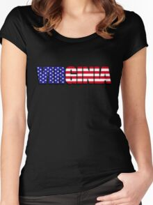 Virginia United States of America Flag Women's Fitted Scoop T-Shirt