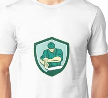 Lumberjack Crosscut Saw Shield Retro Unisex T-Shirt