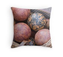 wooden bowls Throw Pillow