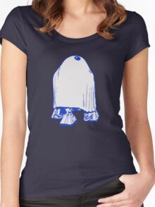 HALLOWEEN DROID GHOST Women's Fitted Scoop T-Shirt