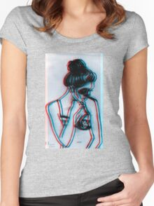Skull Babes  Women's Fitted Scoop T-Shirt