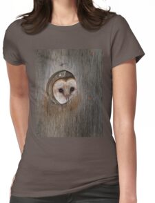 Mama Barn Owl Womens Fitted T-Shirt