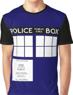 Tardis Doctor Who Graphic T-Shirt