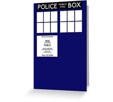 Tardis Doctor Who Greeting Card