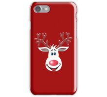 Happy Rudolph - The Red Nosed Reindeer iPhone Case/Skin