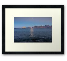 Cruise Ship Departing in the Moonlight Framed Print