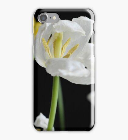 Flowers on black background iPhone Case/Skin