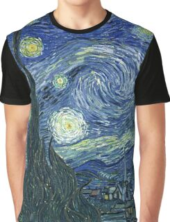 Vincent Van Gogh - The Starry night  Graphic T-Shirt