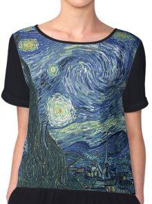 Vincent Van Gogh - The Starry night  Chiffon Top