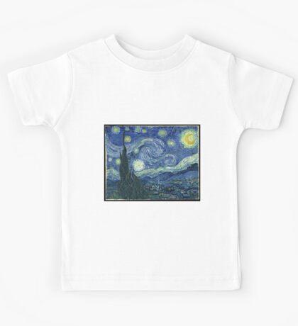 Vincent Van Gogh - The Starry night  Kids Tee