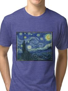 Vincent Van Gogh - The Starry night  Tri-blend T-Shirt