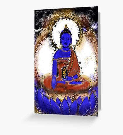 Akshobya, Blue Buddha of the Eastern Realm Greeting Card