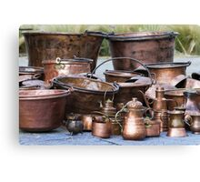 old pots and pans Canvas Print