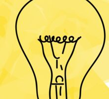 Light bulb Sticker