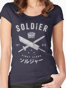 Midgar first class Women's Fitted Scoop T-Shirt