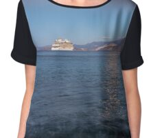 Cruise Ship Departing in the Moonlight Chiffon Top