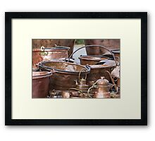 old pots and pans Framed Print