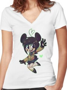 Kenny Women's Fitted V-Neck T-Shirt