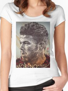 Alberto Moreno - Liverpool FC Women's Fitted Scoop T-Shirt