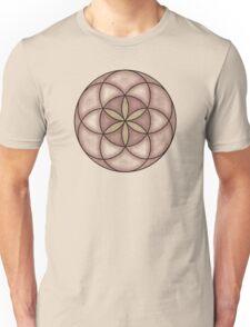 Sacred Geometry: Seed of Life - Grunge Weathered - Sand Unisex T-Shirt