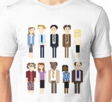 Office Pixel Cast - 10 - Vertical Pattern Unisex T-Shirt