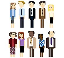 Office Pixel Cast - 10 - Vertical Pattern Photographic Print