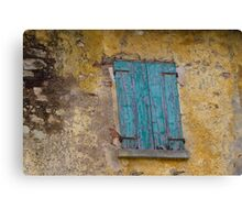 window of thw house Canvas Print