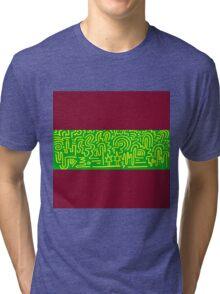 Clean Stripe (Dirty Cranberry) Tri-blend T-Shirt