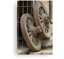 wooden wheel Canvas Print