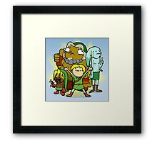 The kid behind the masks Framed Print