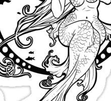Mucha Mermaid Sticker