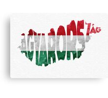 Hungary Typographic Map Flag Canvas Print