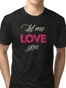 Justin Bieber - Let me love you Tri-blend T-Shirt