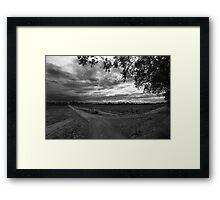 Autumn storms. Framed Print