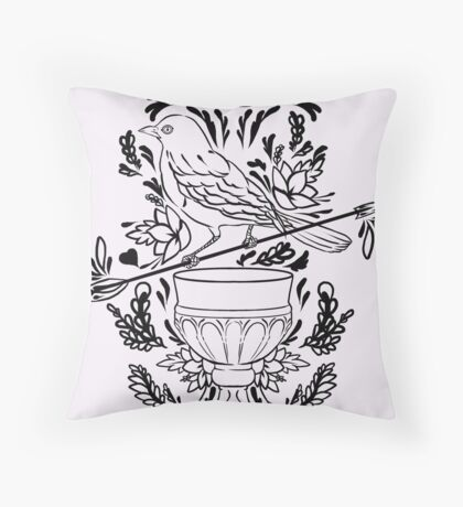 Leliana romance tattoo Throw Pillow