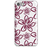 Floral abstract ornament graphic iPhone Case/Skin