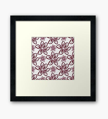 Floral abstract ornament graphic Framed Print