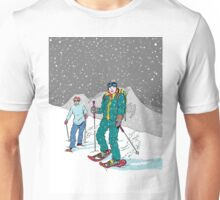 Snow-shoeing in the snow Unisex T-Shirt
