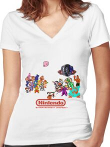 NES Classic Women's Fitted V-Neck T-Shirt