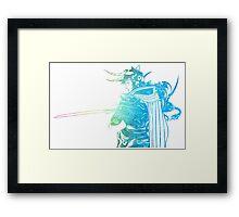 °FINAL FANTASY° Final Fantasy I Rainbow Logo Framed Print
