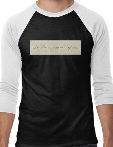 Like I'm Running Out Of Time - Hamilton's Handwriting Men's Baseball ¾ T-Shirt