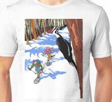 Woodpecker in the tree Unisex T-Shirt