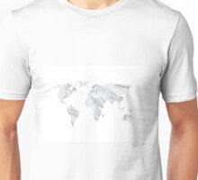Marble World Map Unisex T-Shirt