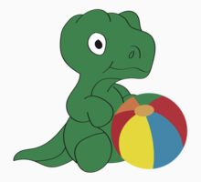 Dino and ball One Piece - Short Sleeve