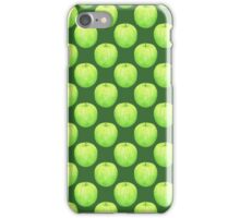 Green Apple ~ Watercolor painting & pattern iPhone Case/Skin