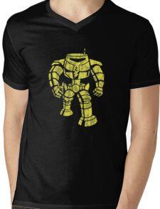 Manbot - Distressed Variant Mens V-Neck T-Shirt