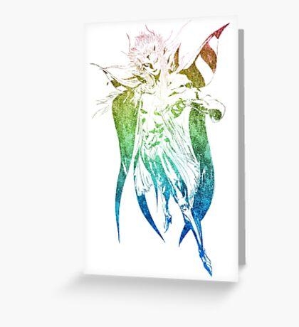 °FINAL FANTASY° Final Fantasy II Rainbow Logo Greeting Card