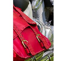 red leather bag Photographic Print