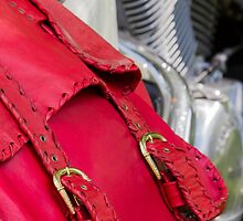 red leather bag by spetenfia