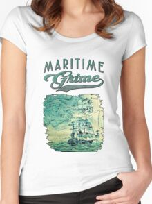 The Sea Bound Coast Women's Fitted Scoop T-Shirt